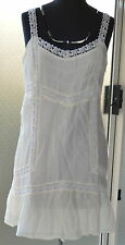 Quicksilver New Cream Women's Edwardian Tank Dress BNWT Size M RRP $69.99