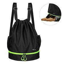 RYACO Drawstring Backpack Sports Gym Bag, Water Resistant String Sackpack Large