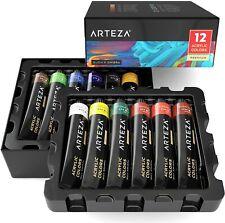ARTEZA Acrylic Professional Artist Paint, 22ml Tubes, Set of 12