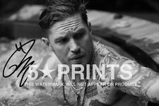"""SIGNED PP TOM HARDY POSTER PHOTO 12x8"""" AUTOGRAPH PRINT BRITISH ACTOR STYLE A"""