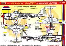 KORA Decals 1/32 NAKAJIMA Ki-43-II OSCAR Manchukuo Air Force