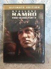 Rambo - First Blood Pt. 2 (DVD, 2004, Ultimate Edition) Sylvester Stallone