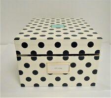 Kate Spade Navy Polka Dot Exterior Green Interior Small Nesting Storage Box