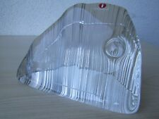 VINTAGE MADE IN FINLAND GLASS 'STAG IN WATERFALL' PAPERWEIGHT