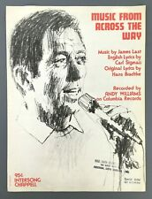 Music From Across The Way Andy Williams Sheet Song Piano Vocal Vintage 1971
