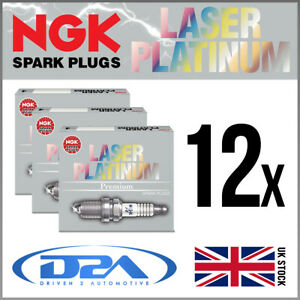 12x NGK PTR6D-13 Laser Platinum Spark Plugs For ASTON MARTIN DB9 5.9 09/03>04/13