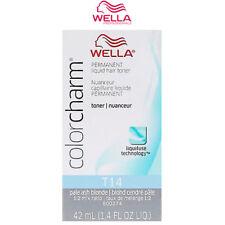 2 X T18 Wella Color Charm Toner Permanent Hair Colour - Lightest Ash Blonde