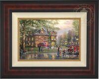 Thomas Kinkade Studios Hometown Firehouse 12 x 18 LE G/P Canvas Framed
