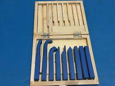 """9 PC 10mm(3/8"""") Mini Lathe Tool Set Carbide Tip Metal Cutting Turning Boring Bit"""