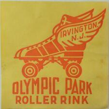 1930's-50's Olympic Park Rink Irvington, NJ Roller Skating Label Vintage B6