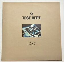 TEST DEPT - BEATING THE RETREAT HAND SIGNED RECORD LP AUTOGRAPHED