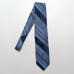 Weises By Beau Brummell Blue Striped Polyester Tie