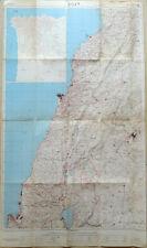 LEBANON BIG TOPOGRAPHIC MAP IN HEBREW 1982 BEIRUT