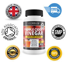 Apple Cider Vinegar 500mg 120 Capsules – GMP – UK Made – Mother – Weight Loss