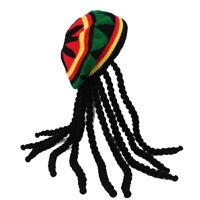 Jamaican Bob Marley Rasta Beanie with Dreadlocks