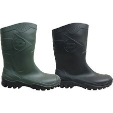 MENS GENTS NEW DUNLOP SHORT CALF WELLIES WELLINGTON RAIN GARDEN MUCK BOOTS SIZE