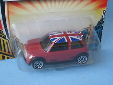 Matchbox Mini Cooper S Red Body Union Jack Flag on Roof Toy Model Car 70mm