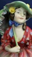 Royal Doulton Figure HINGED PARASOL Potted By HN1578 produced between 1933-49