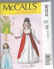 MCCALL'S Patrón de Costura NIÑOS / Niña ' Trajes Princesa Reina 3-8 7212