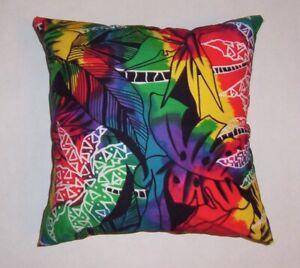 """Throw pillow cover or sham  14"""" Hawaiian print"""