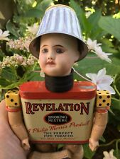Ooak Steampunk Assemblage Art Doll Antique French Sfbj Head with Mixed Media