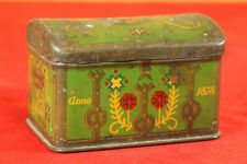 Rare Antique 1920-1930 Latvia V. Ķuze Candy Tin Box EXCELLENT!