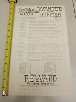 COW PALACE WANTED FOR HUNGER MENU RESTURANT TOLEDO OHIO OLD VINTAGE