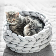 Hand-made Knitting Cat&Puppy Nest Pet Bed Can Be Machine Washable Cat Bed