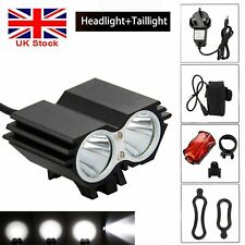 10000Lumen Cycling Front Light Bicycle MTB Bike LED Head+Rear Lamp Rechargeable
