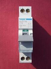 Réf MJN716 DISJONCTEUR HAGER 1P+N 16A 4,5Ka/6Ka COURBE C 230;400V NEUF