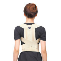 Adjustable Back Support Posture Corrector Magnetic Brace Shoulder Band Belt ESUS
