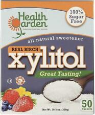 All Natural Xylitol Sweetener, HEALTH GARDEN, 50 packets