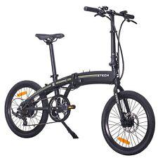 Bicicletta Elettrica Pieghevole Pedalata Assistita E-Bike 250W USB Charger NERO