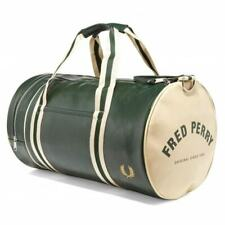FRED PERRY CLASSIC BARREL BAG DEEP FOREST/ECRU NEW WITH TAGS MEDIUM