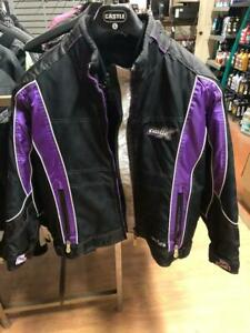 Castle X Twist 12 Ladies jacket, Black and Grape, Small - price reduced