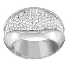 Swarovski Cycle Ring, Size: 60 Rhodium-Plated Crystal Authentic MIB 5140102