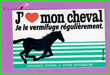 Ancien Autocollant J'aime mon Cheval je le vermifuge Horse