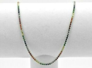 Sterling Silver Graduated MultiColor Rainbow Sapphire Tennis Adjustable Necklace