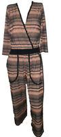 Tuta Intera Pantalone 3/4 Elegante Donna Luisella Mariani Vestito Lurex Taglia M