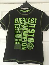 BOYS EVERLAST BOXING T-SHIRT UK SIZE 9-10 YEARS *FREE UK SHIPPING* ⭐️VGC⭐️