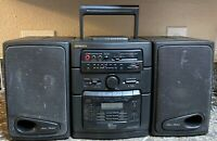 Fisher PH-D650 Stereo Boombox Cassette 6 Disc CD Radio Tested Pre-owned