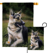 German Shepherd Pets Dog Puppy Alsatian Gsd Outdoor Garden House Yard Flag