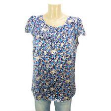 STEFFEN SCHRAUT Blusen-Shirt Bluse Geblümt Seide Multicolor Gr. 42 XL (DD44)