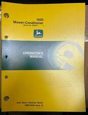 John Deere 1600 Mower Conditioner Operator Manual Ome79908 J9 V 10