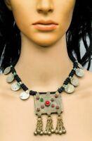 Banjara Kuchi Tribal Boho Afghan Vintage Gypsy Handmade Coins Pendant Necklace