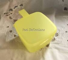 TUPPERWARE SQUARE FORGET ME NOT CHEESE KEEPER LEMON YELLOW