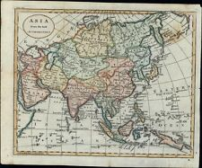 Asia Arabia Persia Hindoostan Tibet Tartary China 1795 antique hand color map