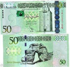 Libia Libia Banconota 50 Dinars 2013 NUOVO NOUVEAU NUOVA UNC