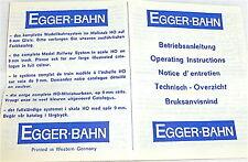 Egger-BAHN Mode d'emploi Egger H0e Voie étroite