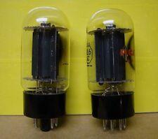 Vintage Matched Pair 6L6GC Audio Power Output Vacuum Tubes RCA